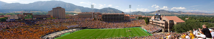 University Of Colorado Boulder Folsom Field Game Panorama Photograph
