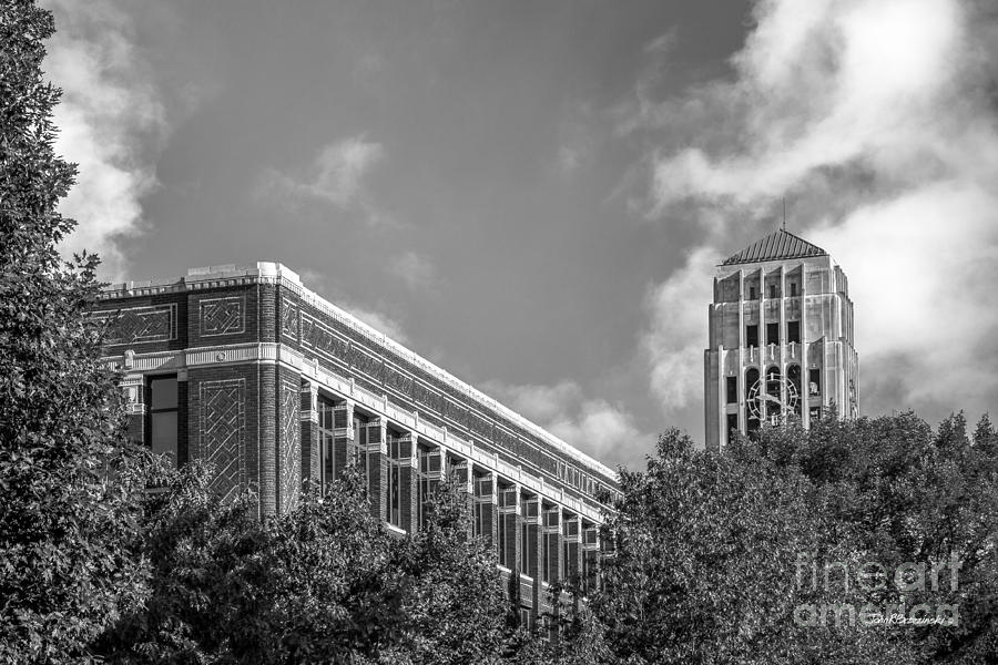 Ann Arbor Photograph - University Of Michigan Natural Sciences Building With Burton Tower by University Icons