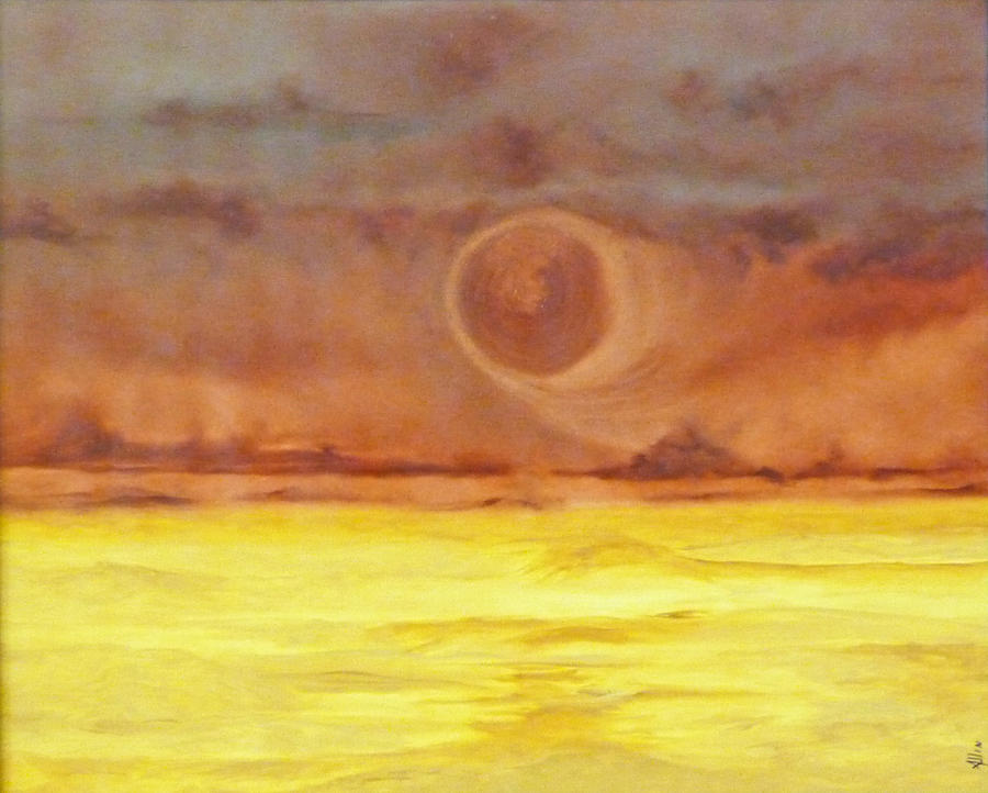 Outer Space Painting - Unknown Planet by Cheryl Allin