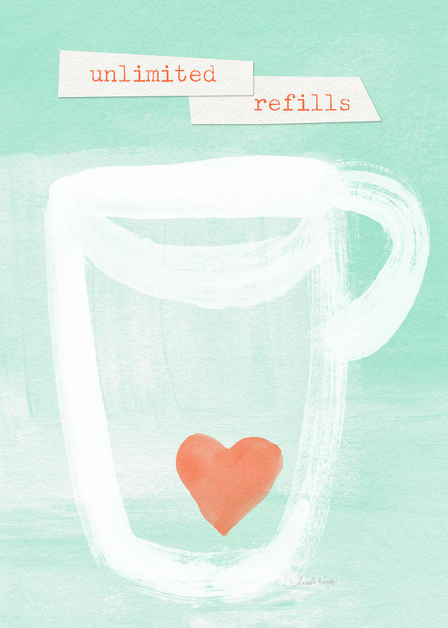 Unlimited Refills- Art By Linda Woods Painting