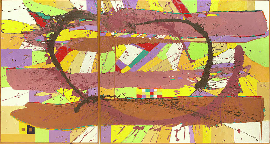 Untitled Diptych Painting