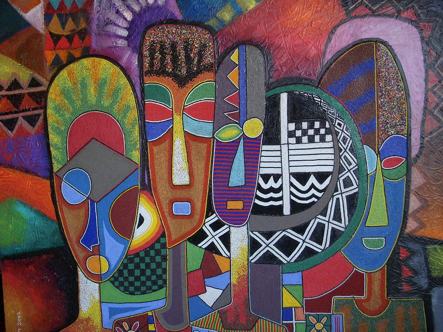 Untitled painting by jimoh buraimoh for African mural painting