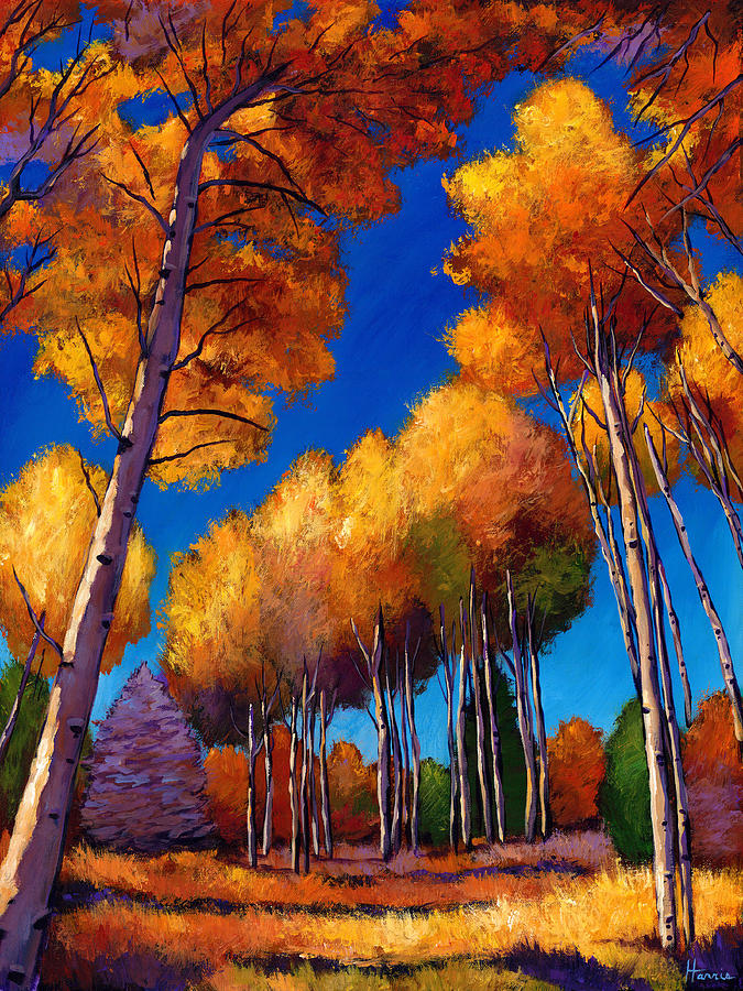 Autumn Aspen Painting - Up And Away by Johnathan Harris