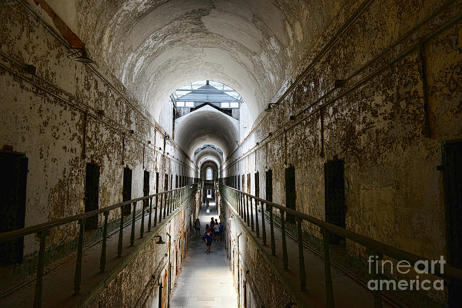 Eastern State Penitentiary Photograph - Upper Cell Blocks by Paul Ward