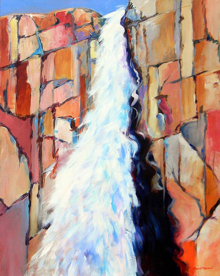 Waterfalls Painting - Upper Falls by David  Maynard