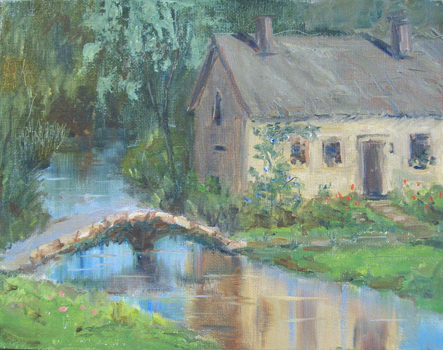 Upper Slaughter - England Painting
