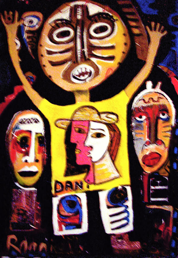 Nappy Head Art Painting - Urban Ancestors by Robert Daniels