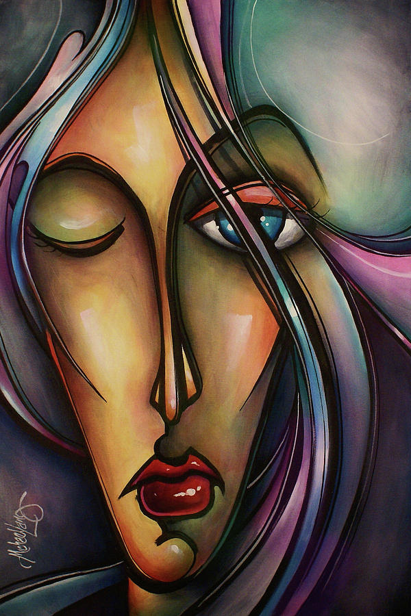 Portrait Painting - Urban Design by Michael Lang