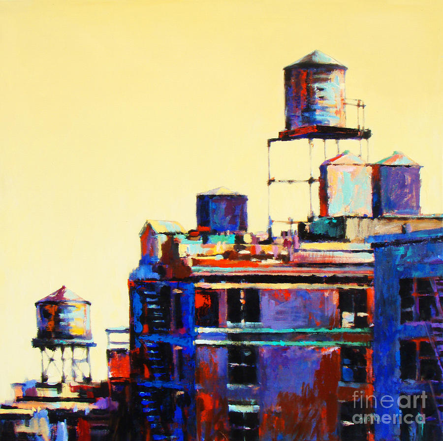 Urban Rooftops Painting