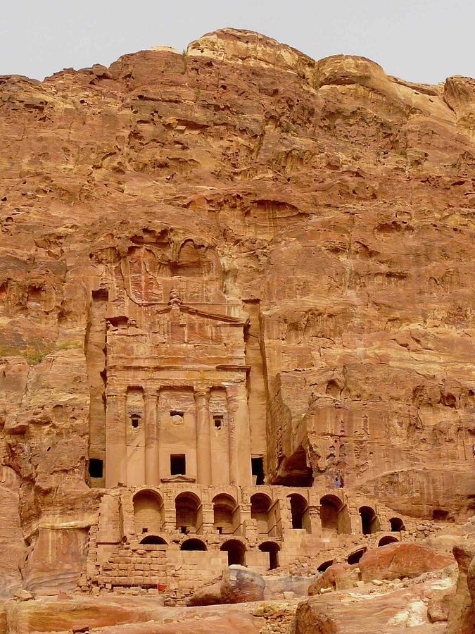 Vertical Photograph - Urn Tomb, Petra by Cute Kitten Images