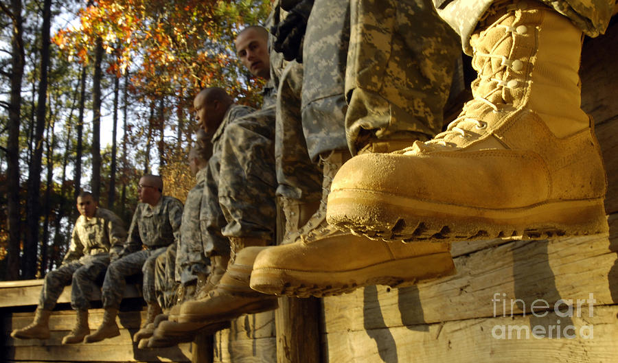 Adults Only Photograph - U.s. Army Soldiers Prepare For Basic by Stocktrek Images