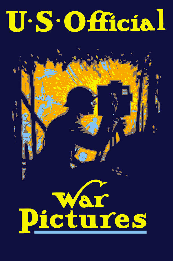 Ww1 Painting - U.s. Official War Pictures by War Is Hell Store