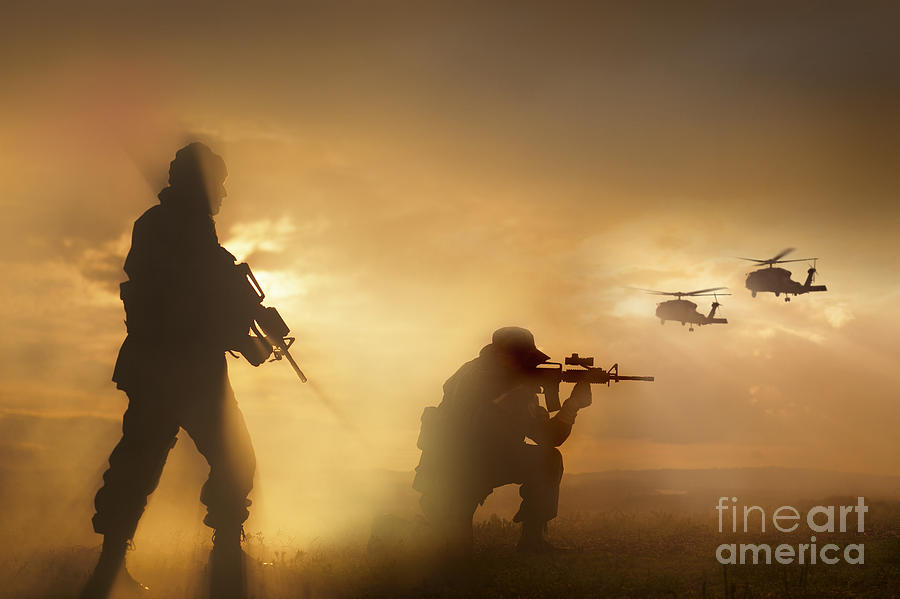 Special Operations Forces Photograph - U.s. Special Forces Provide Security by Tom Weber
