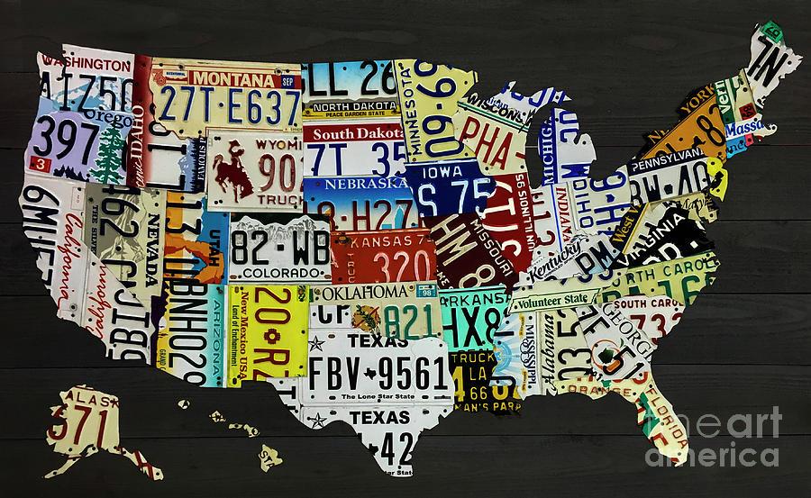 Usa Map Photograph