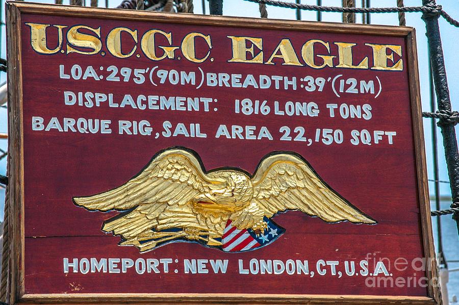 Uscgc Eagle Plaque Photograph