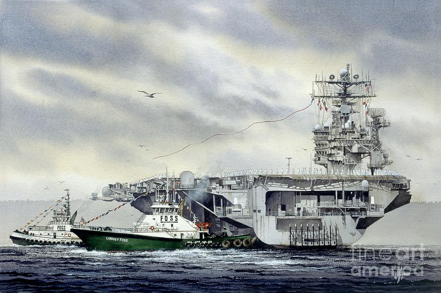 Uss Abraham Lincoln Painting - Uss Abraham Lincoln by James Williamson