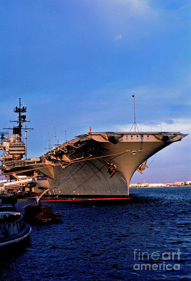 Us Naval Station Mayport Photograph - Uss Forrestal Cv-59 by Thomas R Fletcher