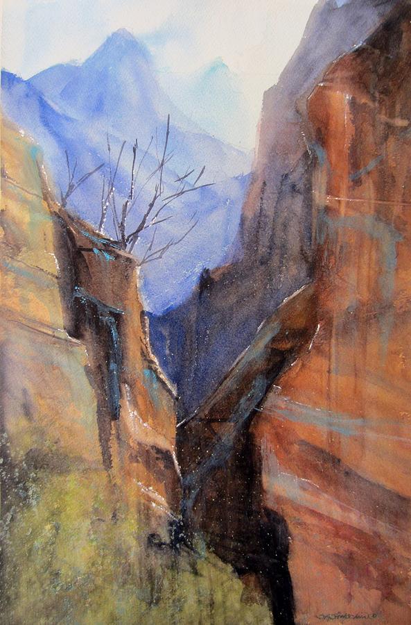Utah Painting - Utah Red Rocks by Sandra Strohschein