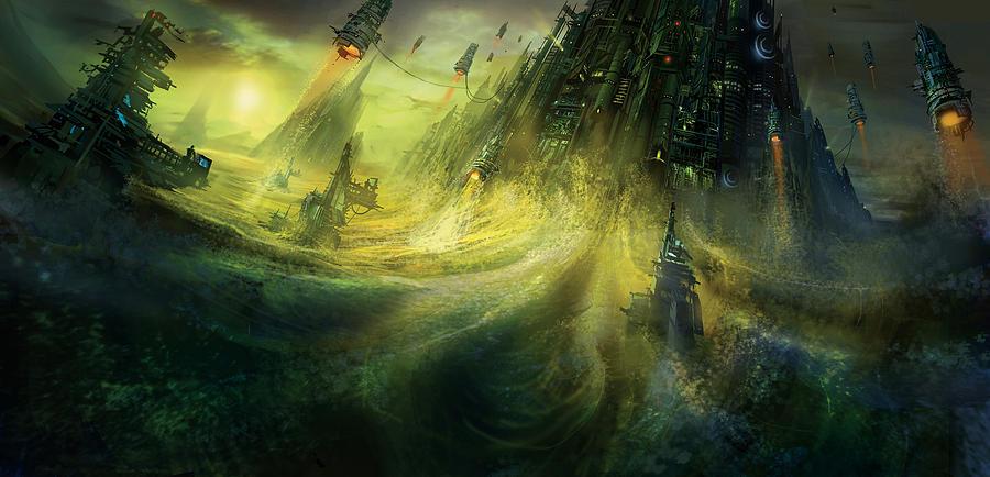 Utherworlds Painting - Utherworlds Monolith by Philip Straub