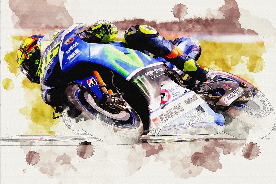 Valentino Rossi-movistar Yamaha Motogp Digital Art by Don Kuing
