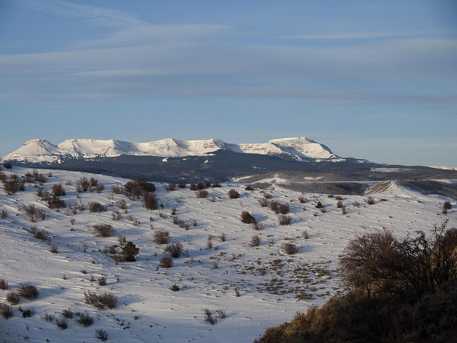 View Across Yampa Valley From The Base Foothills Of Gore Mountain Range Photograph - Valley View Of Flat Tops by Daniel Hebard