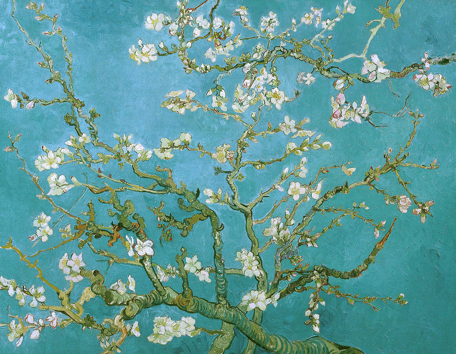 Van Gogh Blossoming Almond Tree Painting