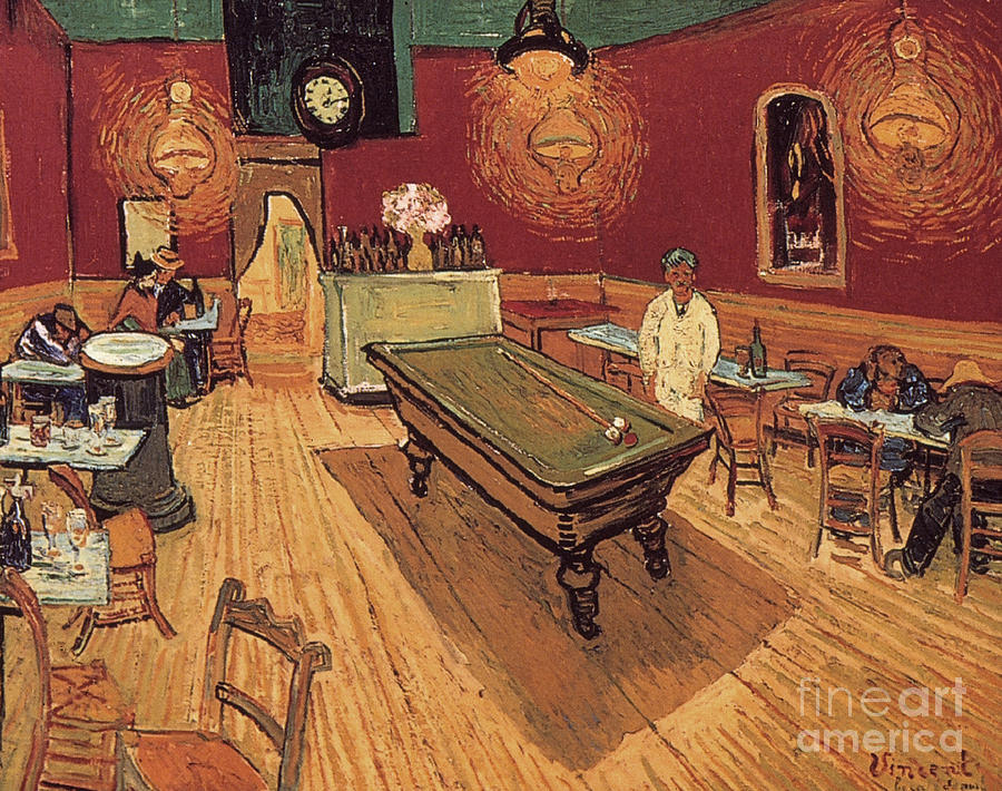 1888 Painting - Van Gogh Night Cafe 1888 by Granger