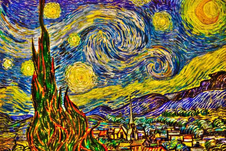 Art Photograph - Van Goghs starry Night - Hdr by Randy Aveille