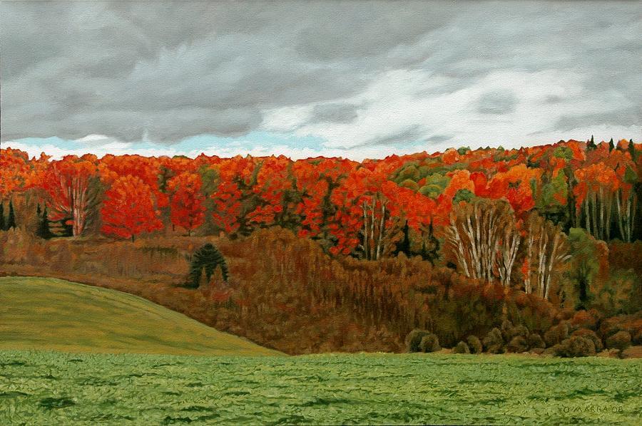 Landscape Painting - Vardy Settlement Colour by Allan OMarra