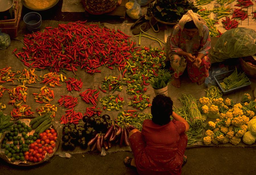 Vegetable Market In Malaysia Photograph