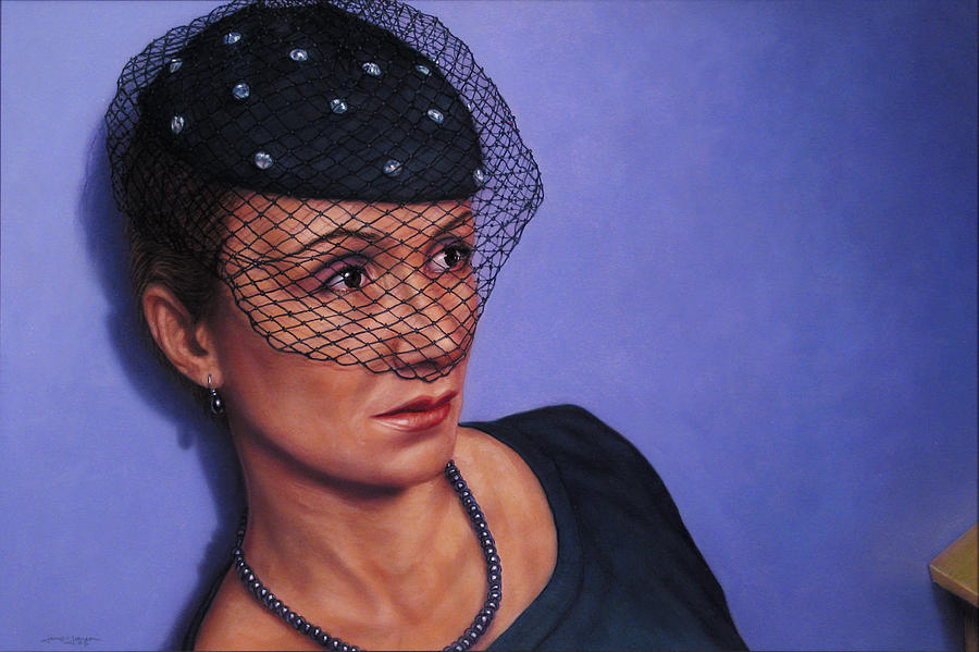Veiled Painting - Veiled by James W Johnson