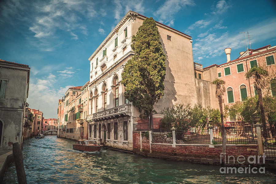 italy photograph venetian architecture and sky venice italy by