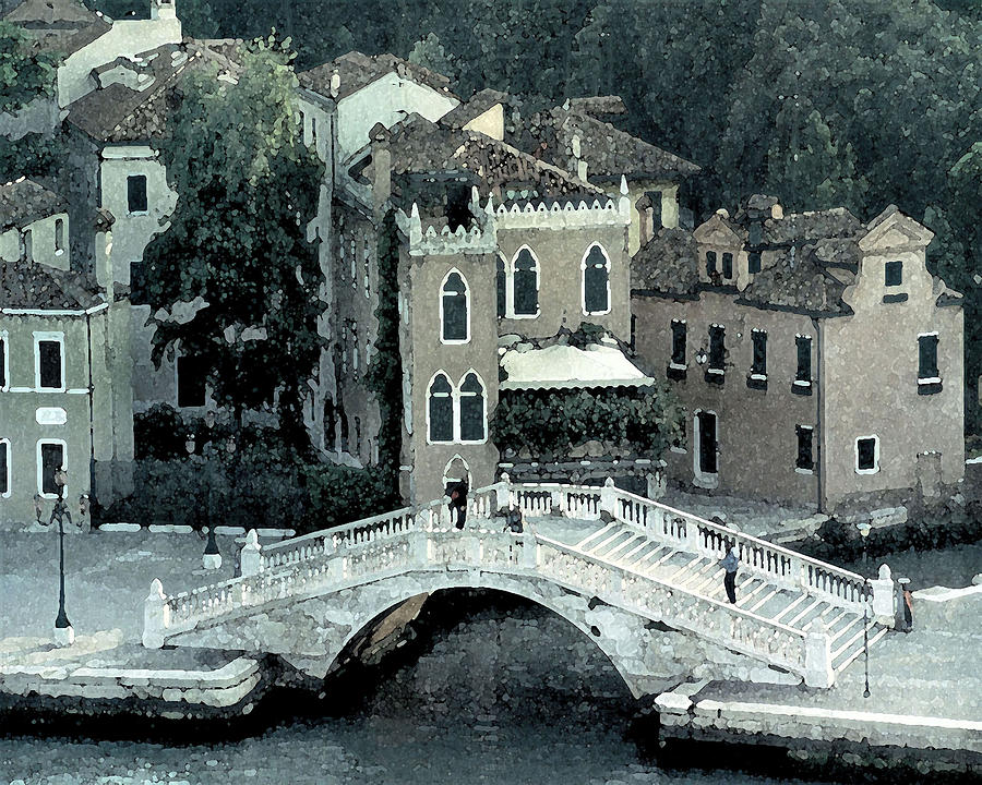 Venetian Walking Bridge Digital Art