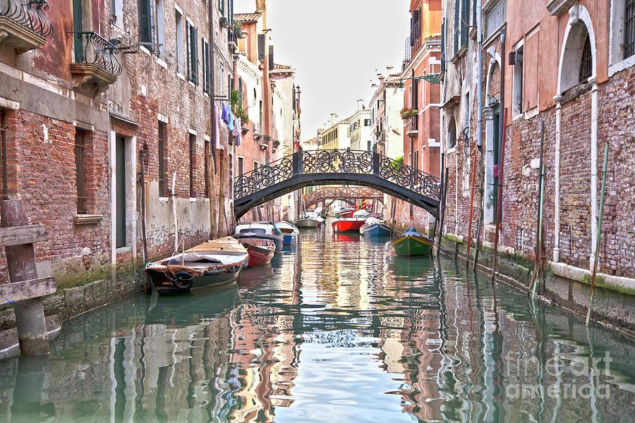 Venice Photograph - Venice Bridge Crossing 2 by Heiko Koehrer-Wagner