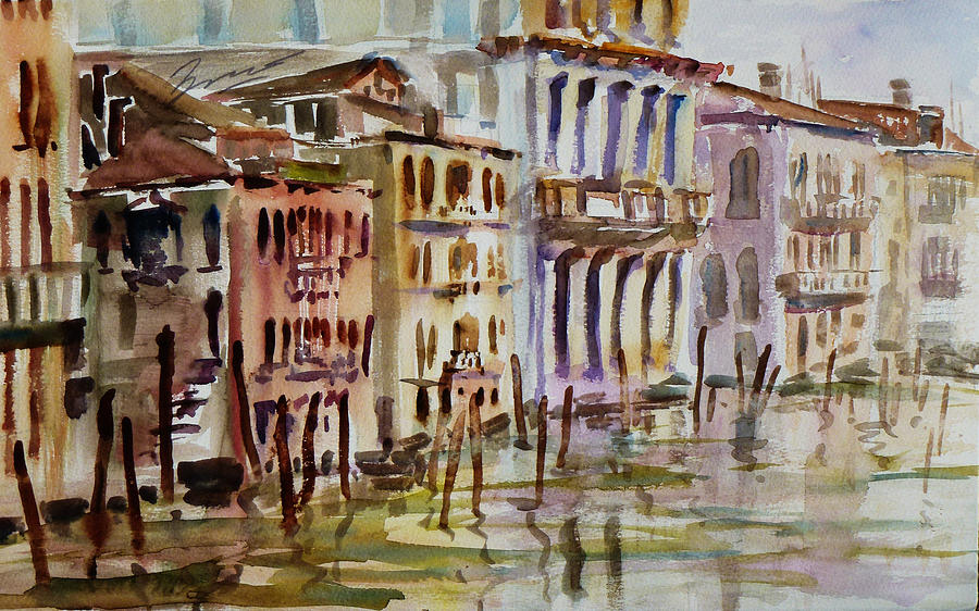 Watercolor Painting - Venice Impression II by Xueling Zou