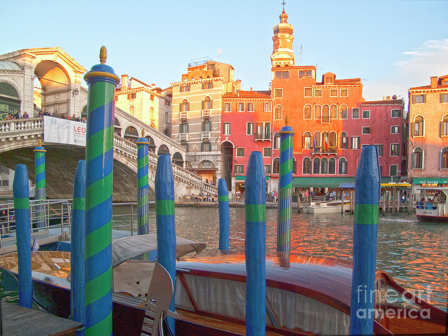 Venice Photograph - Venice Rialto Bridge by Heiko Koehrer-Wagner