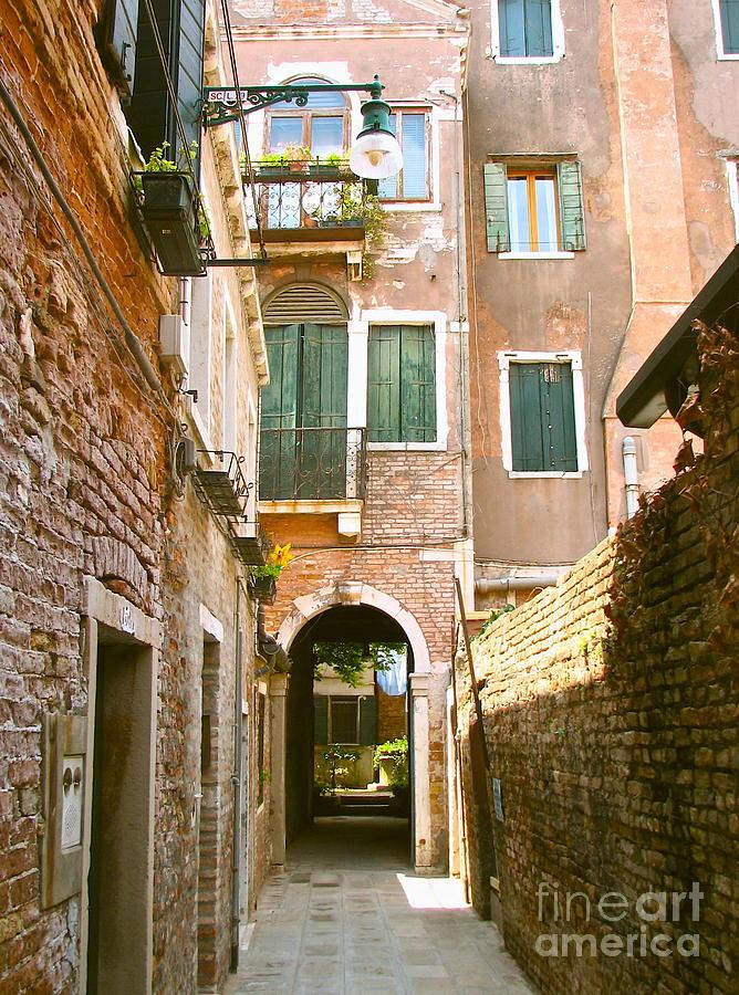 Angelica Dichiara Photograph - Venice- Venezia-calle Veneziana by Italian Art