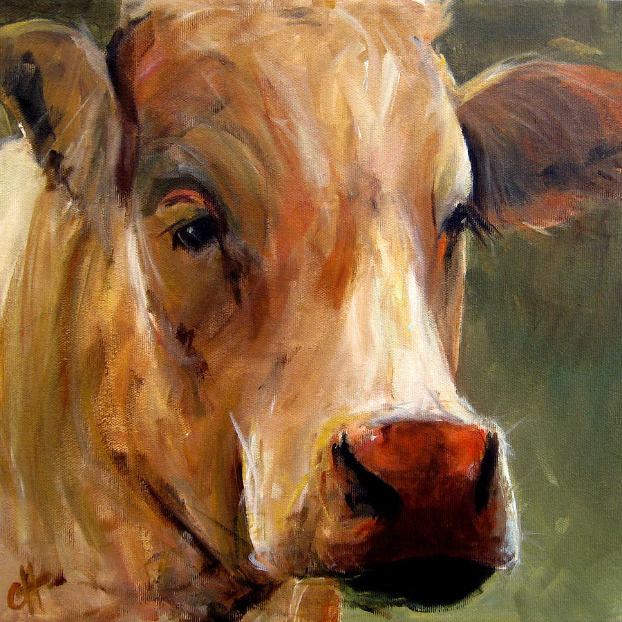 Vera painting by cari humphry for Cow painting print