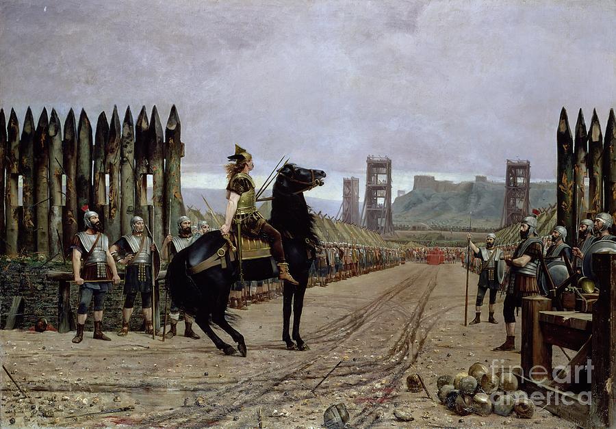 Vercingetorix Before Caesar Painting By Henri Paul Motte