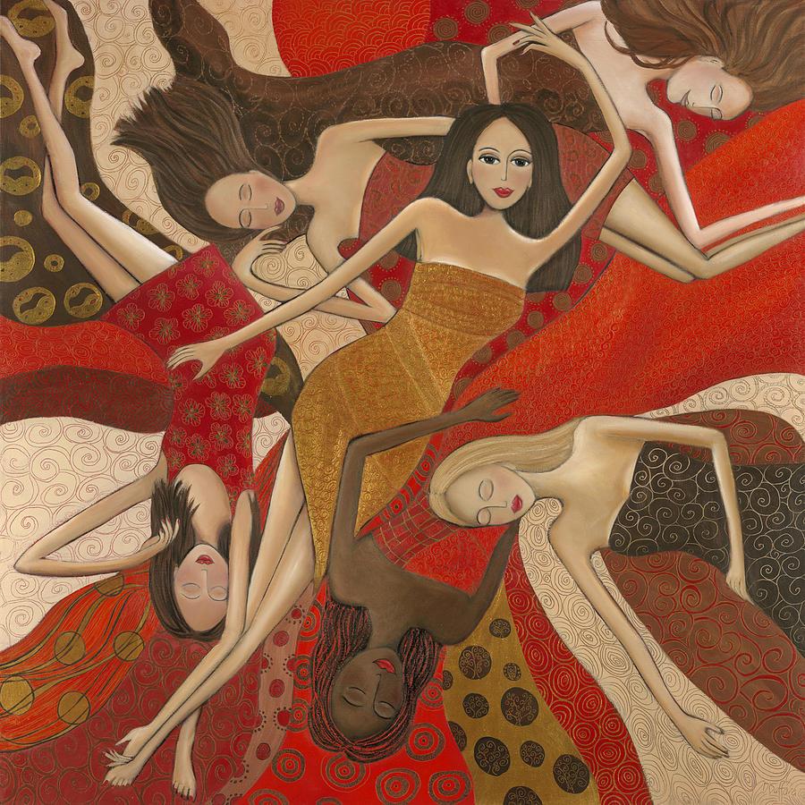 Female Painting - Vermilion Dream by Denise Daffara