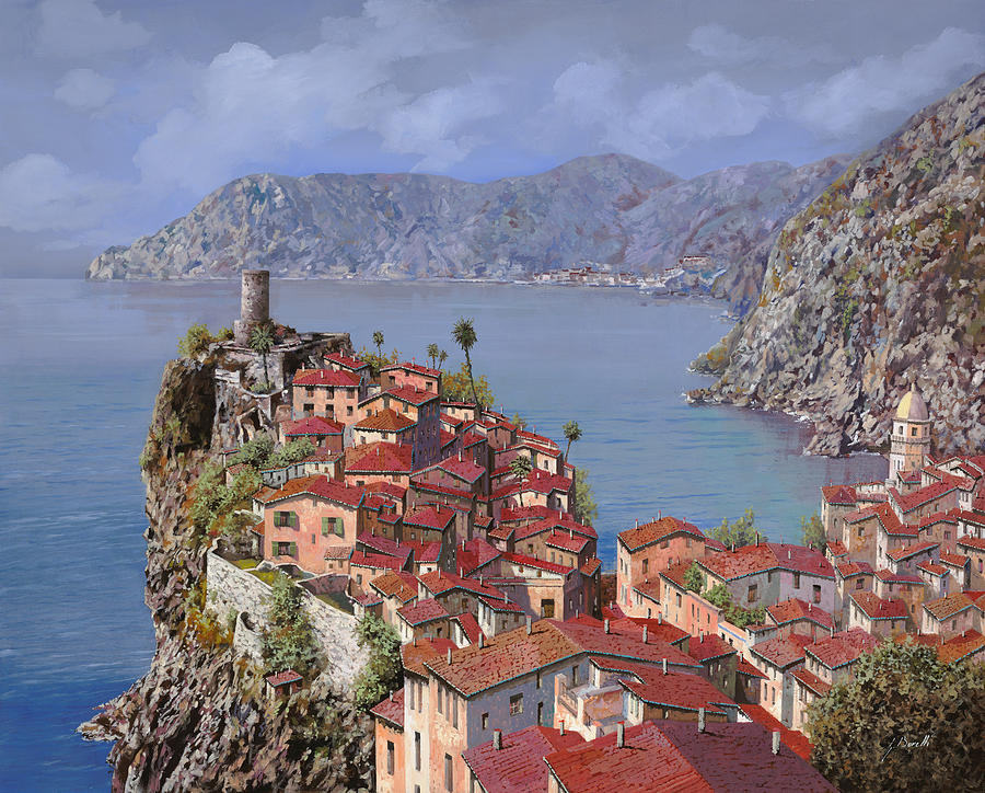 Seascapes Painting - Vernazza-cinque Terre by Guido Borelli