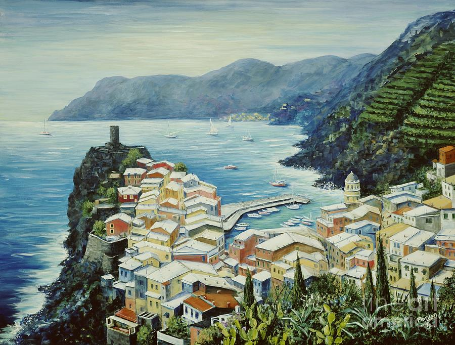 Vernazza Painting - Vernazza Cinque Terre Italy by Marilyn Dunlap