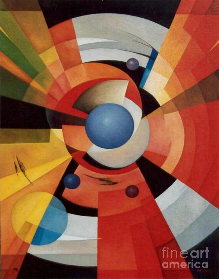 Abstract Painting - Vertigo by Alberto D-Assumpcao