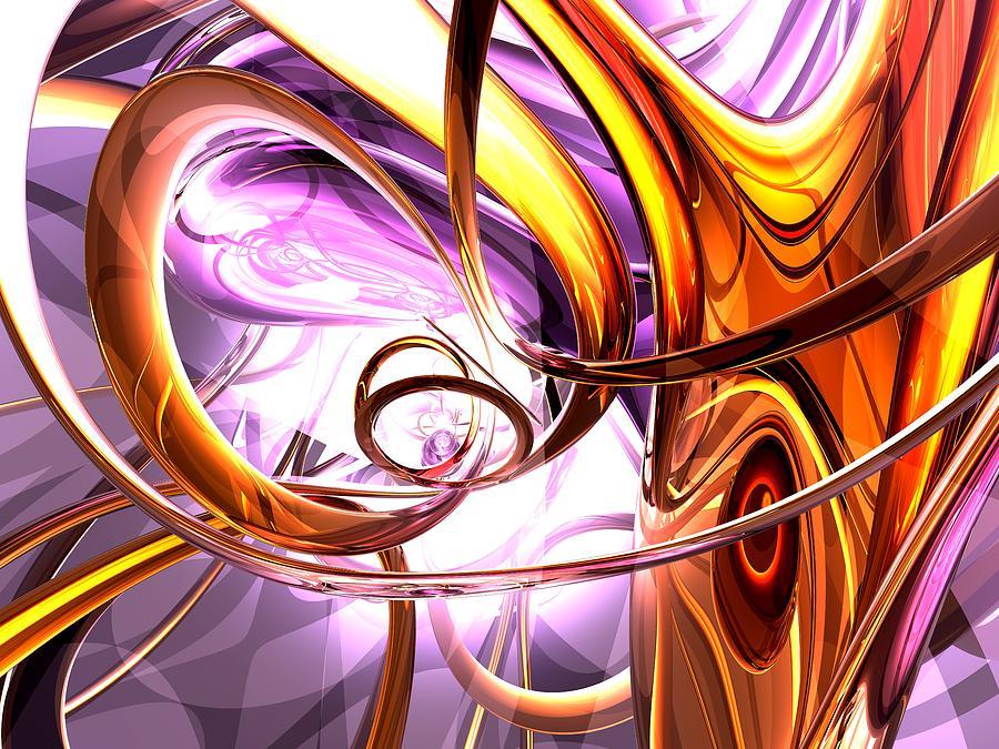 3d Digital Art - Vicious Web Abstract by Alexander Butler
