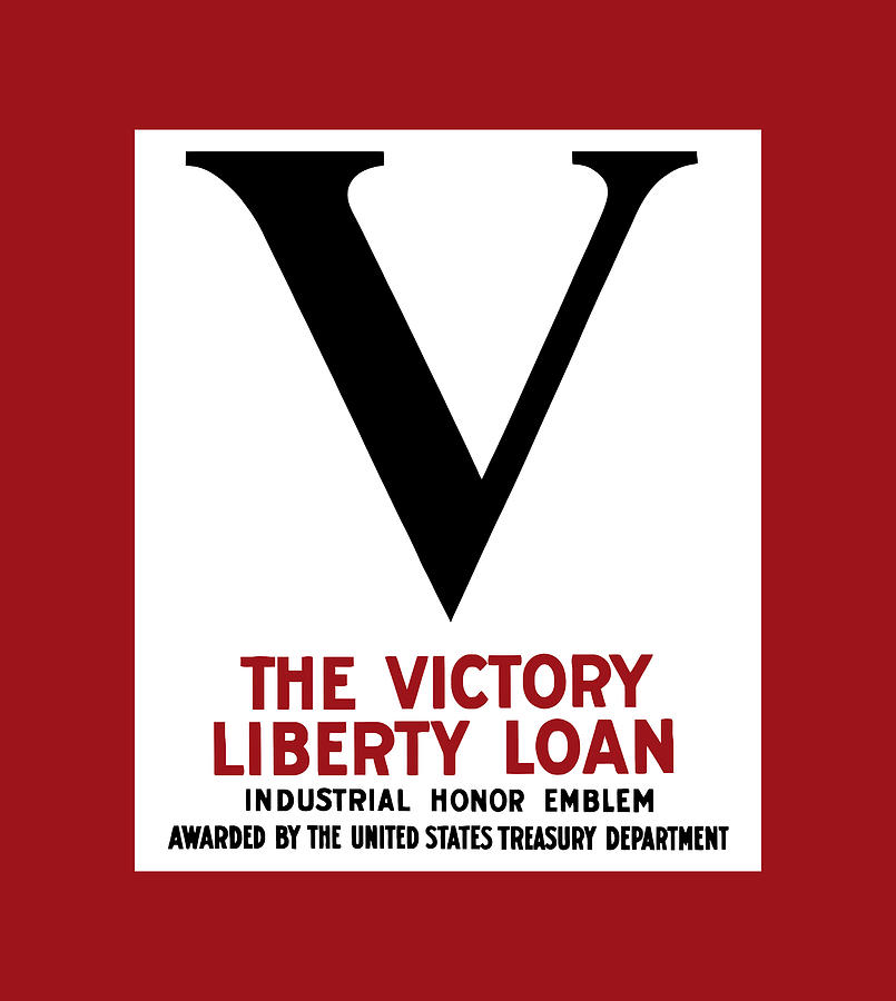 Victory Digital Art - Victory Liberty Loan Industrial Honor Emblem by War Is Hell Store