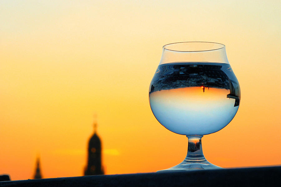 Vienna - Sunset In A Glass Photograph