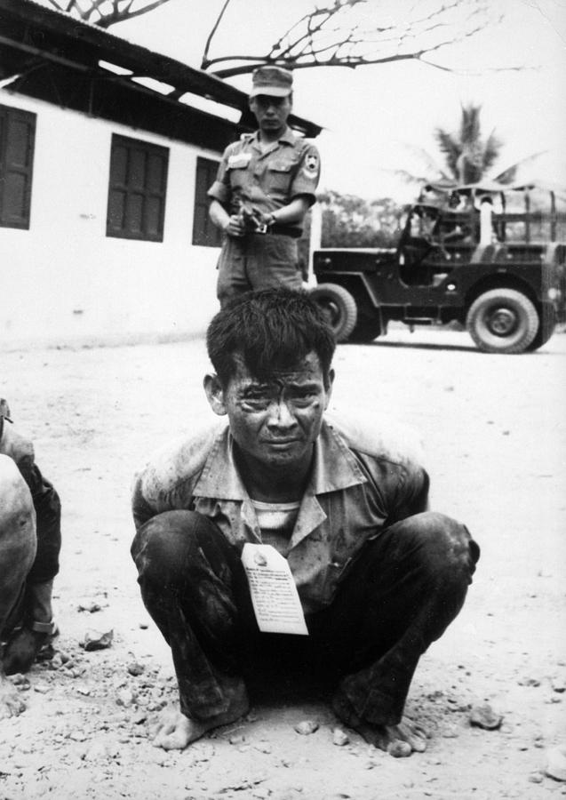 1960s Candids Photograph - Vietnam War, Viet Cong, Heavily by Everett