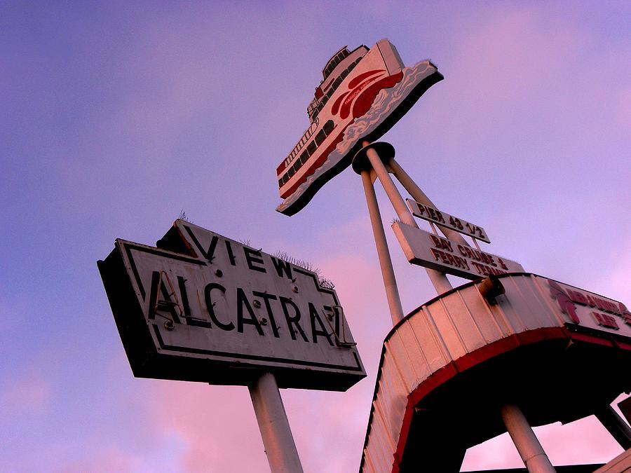 Signs Photograph - View Alcatraz by Elizabeth Hoskinson