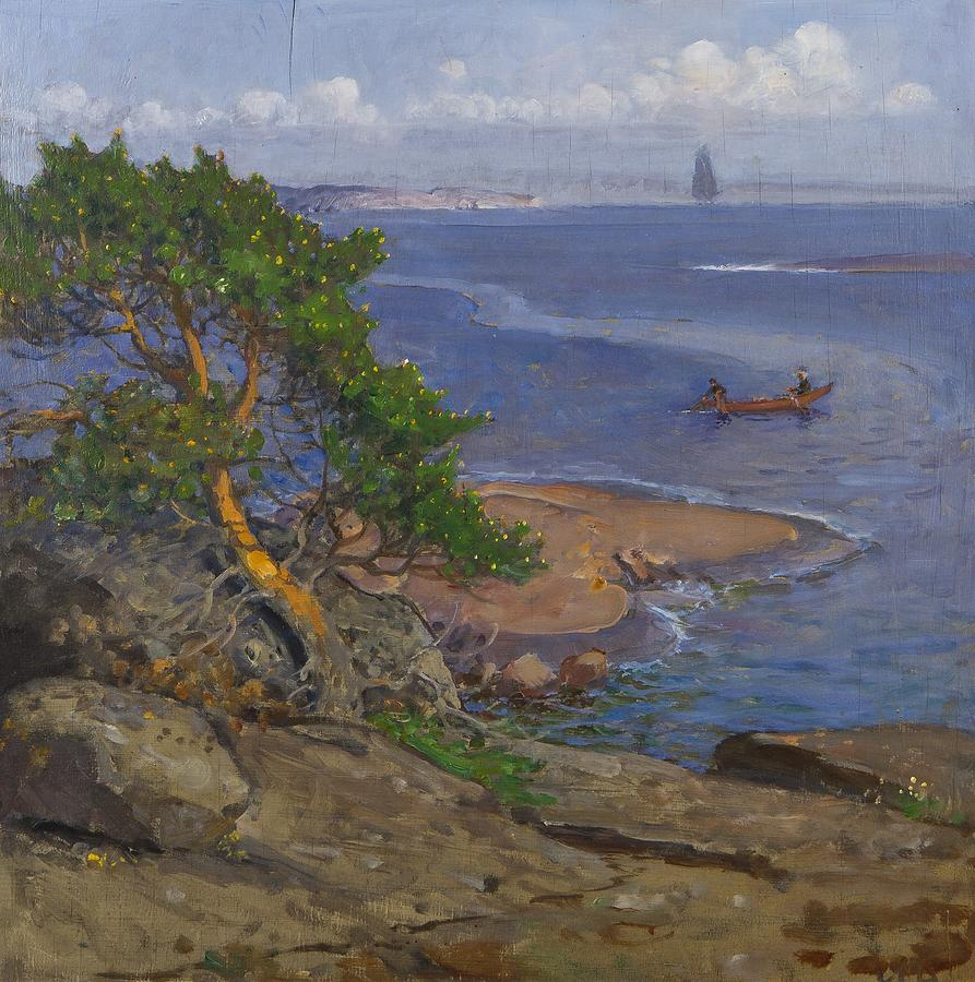 View from archipelago painting by henny soldan brofeldt for Henny and paint