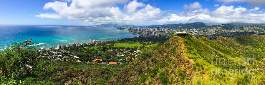 View From Diamond Head Honolulu Hawaii Photograph